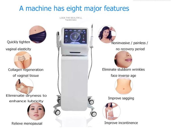 DHL Free Shipping 2in1 HIFU Face Lifting Wrinkle Removal Vaginal Tightening Machine