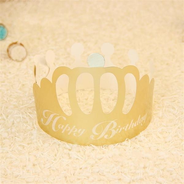 Festliche Partei Hüte Geburtstag Lieferungen Design Papier Goldene Krone Form Einwegkappe Für Kinder Erwachsene Mode Caps 0 2hy jj