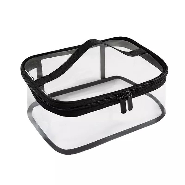 Travel transparent pvc makeup storage bag/zip lock travel pvc bag/beauty pvc cosmetic bag with the best design