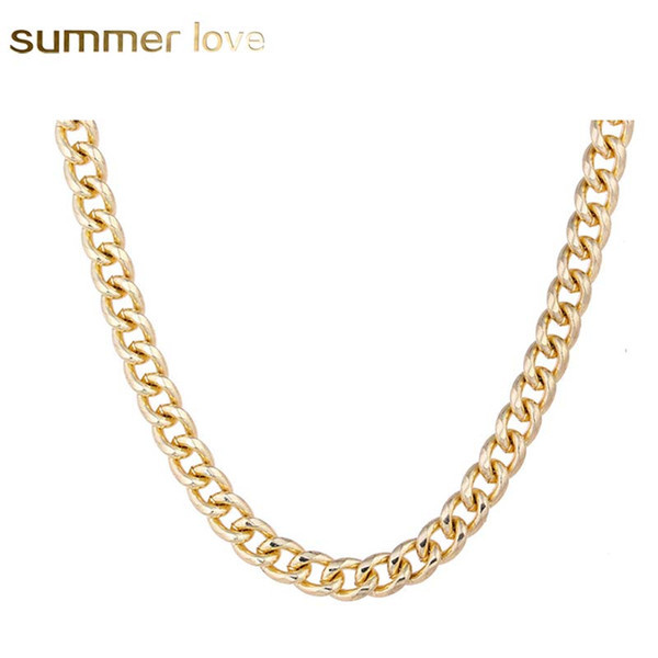 New punk style 5mm figaro chain neckalce for women men high quality silver gold diy link chain necklace fashion jewelry