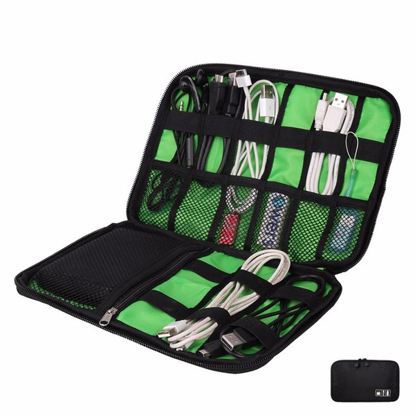 Storage Travel Bag Kit Small Bag Mobile Phone Case Case Digital Gadget Device USB Cable Data Cable Organizer Travel Inserted Bag