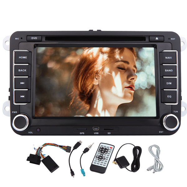 Quad Core Wifi Android 6.0 Car DVD Player GPS Double 2 Din 7'' for Volkswagen VW POLO Mirror Link Wifi Bluetooth Auto