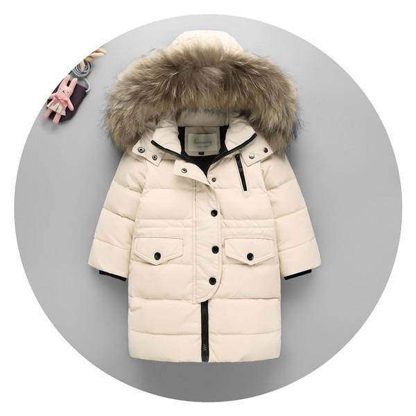 Yeni Yıl Giyim Beyaz Ördek Aşağı Ceket Ince Aşağı Ceket Kızlar Gençler Çocuklar Kış Doldurma Boy