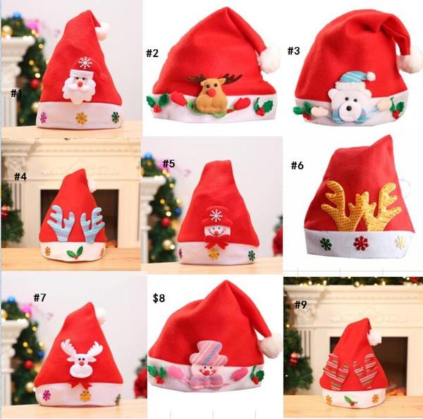 Weihnachtskostüm Weihnachtsbabyhut Kinderfestivaldekoration Hast Weihnachtsmann-Ren-Schneemann-Weihnachtsgeschenk-Kappen-Kinder