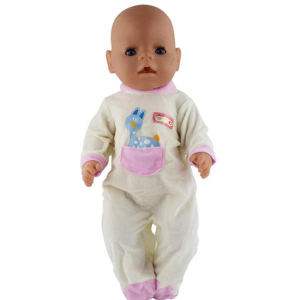 MagiDeal Симпатичный комбинезон Комбинезон Светло-желтый для 43см Zapf Кукла Одеваются Аксессуары для Одежды