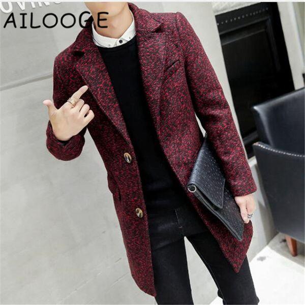 Color La Moda De De Solapa Slim Sólido Cuello De Abrigo Fit Compre w8q45aF5