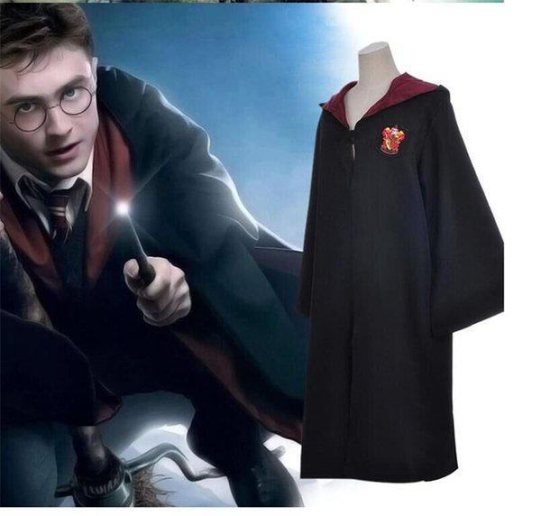 Harry Potter Robe Mantello Mantello del Capo Costume Bambini Adulti Unisex Grifondoro scolastico Abiti uniformi Serpeverde Tassorosso Corvonero 4 colori