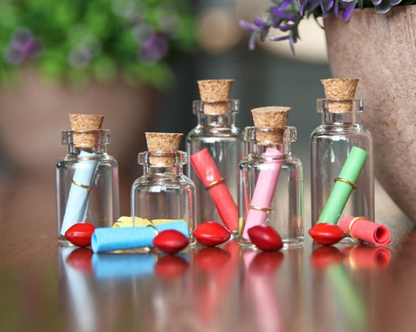 Glass Bottle With Cork Multi Standard Drift Vial Wishing Bottles Empty Transparent Small Phial Stopper Packaging Vials Hot Sale SN1410