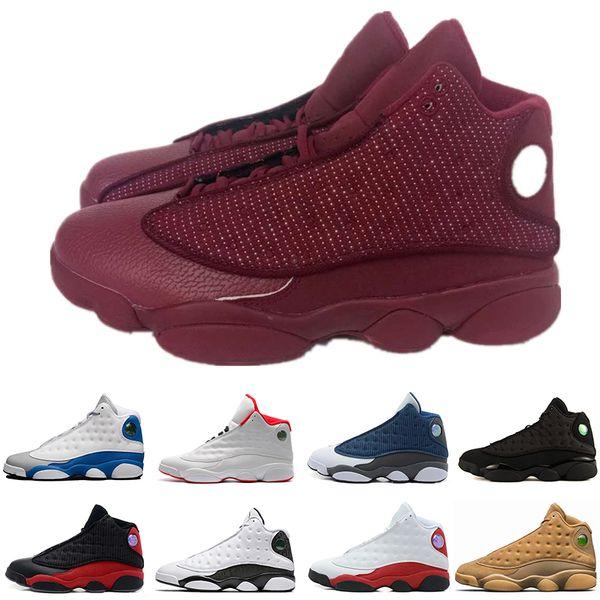 Gros gros Discount 13s Vin Rouge Chat mens chaussures de basket GS Hyper 3 M baskets femmes Sport formateurs chaussures de course Livraison Gratuite