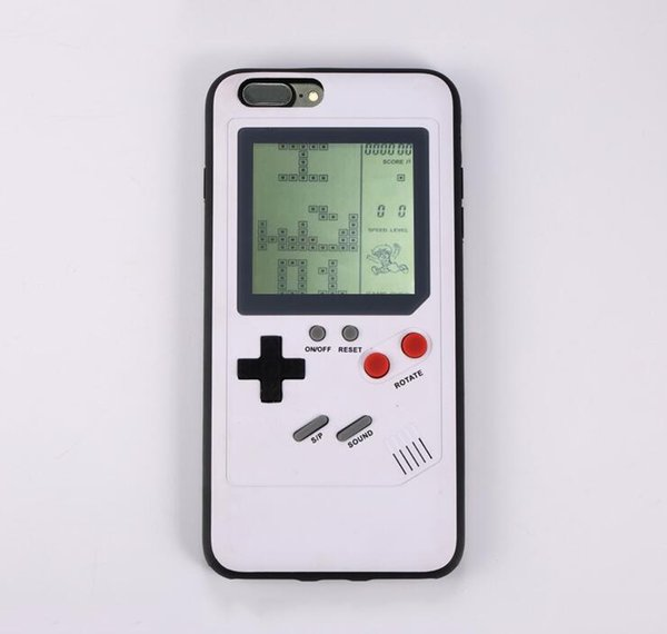Gameboy Tetris Phone Case For iPhone 6 6s Case Soft Edge Game Console Back Cover For iPhone X 7 8 plus Case