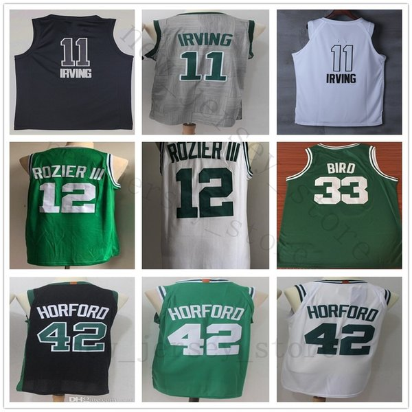 reputable site fb018 c8be6 2018 College City Edition Gray #11 Kyrie Irving Jersey White Green #12  Terry Rozier Iii Jersey Black #42 Al Horford Jerseys Shorts Top Quality  From ...
