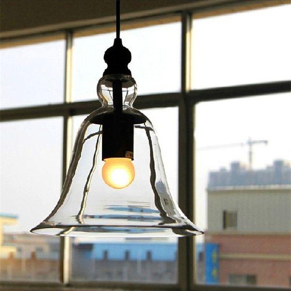 Modern minimalist glass pendant lamp creative bar restaurant lighting cafe interior American village bell light , drop shipping