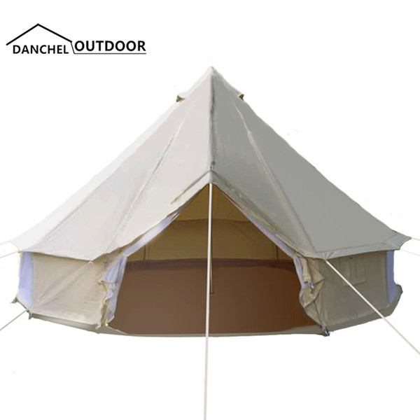 India yurt tyle light khaki full cotton canva bell tent with tove jacket on the wall 2018 new update thumbnail