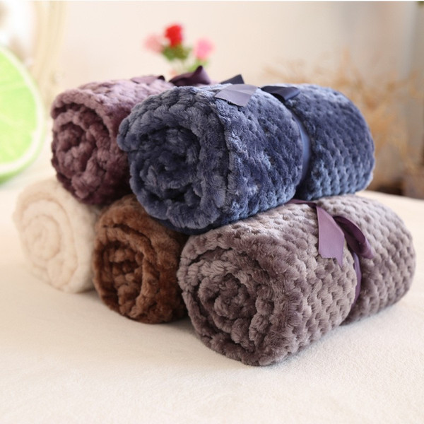 2018 New Flannel Fleece Kids Baby Blanket Plaids Small Blanket Towel Travel Office Sofa Pet Dog Blankets Throw Manta Bedspread