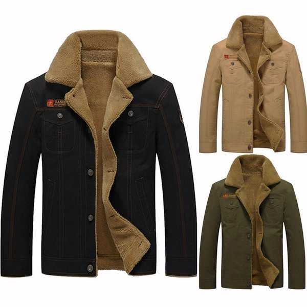 New Winter Bomber Men Thick Running Jacket Coat Pilot Jacket Warm Male Fur Collar Army Tactical Mens 5XL