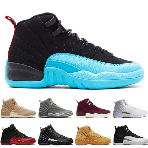 Cheap 12 12s men basketball shoes Wheat Dark Grey Bordeaux Flu Game The Master Taxi Playoffs Sunrise Gym Red Royal Blue Suede Sport sneakers
