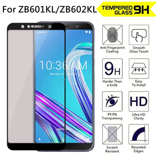 2.5D 9H Protection Tempered Glass For ASUS ZenFone Max Pro M1 ZB601KL ZB602KL Full Cover Screen Protector Phone Protection Film