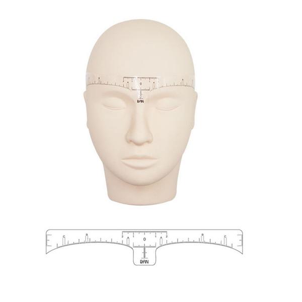 Neue Ankunft 10 STÜCKE Einweg Augenbrauen Schablone Makeup Microblading Maßnahme Tattoo Lineal Schönheit Werkzeug Tattoo zubehör Hübsch