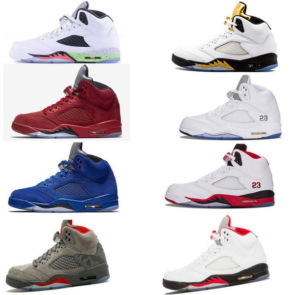 2018 ayakkabı 5 beyaz çimento kırmızı mavi süet 5 s camo Oreo bel Basketbol Spor Ayakkabı sneakers erkekler kadınlar için 2018 yeni colorway
