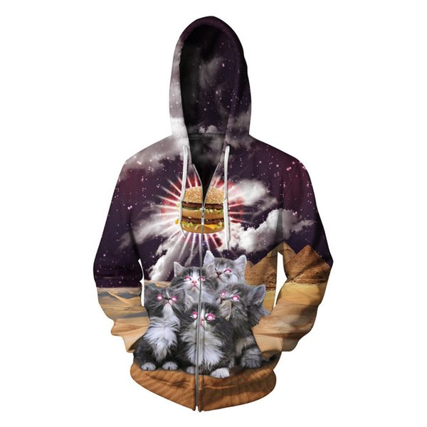 Gothic Cat Hamburg Hooded Casual Hip Hop Hoodies Men New Arrival Fitness Tracksuit Harajuku Galaxy Plus Size Streetwear Hoody