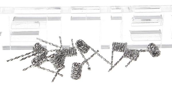 Auténtico Focusecig Nichrome Mix Twisted Pre-Coiled Wire para atomizador RBA (paquete de 10) 26 AWG 0,4 mm de diámetro 0.2mm * 1mm plano / 0.45ohm