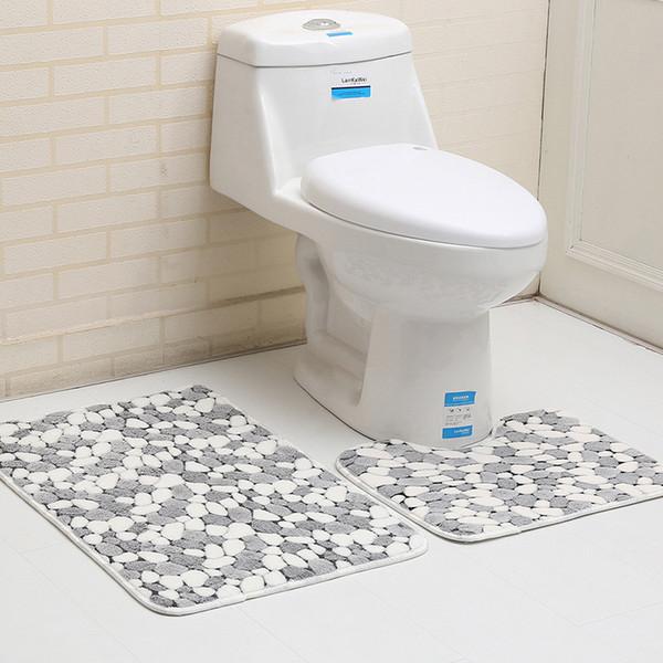 Мода ванная комната Нескользящий коврик 2 шт. Набор ковер пены памяти коврик напольный ковер качество первый многоцветный домашнего декора коврики
