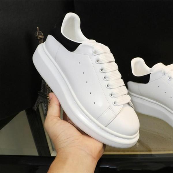Acheter Noir Casual Chaussures À Lacets Designer Confort Jolie Fille Femmes Baskets Chaussures En Cuir Casual Hommes Femmes Baskets Extrêmement