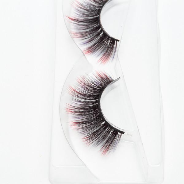 Seashine 3d silk colorful eyelashes American stylebest quality 3d silk colorful eyelashes false lashes handmade lashes free shipping