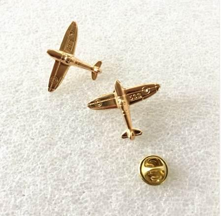 1PC Alloy Gold Color Airplane Air Plane Brooches Pins and Brooch Badge Safety Lapel Pins For Women Men Kids Hijab Jewelry Gifts