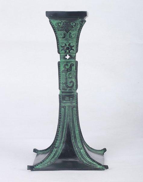 Chinese Bronze Handwork Caverd Goblet (a kind of drinking vessel)