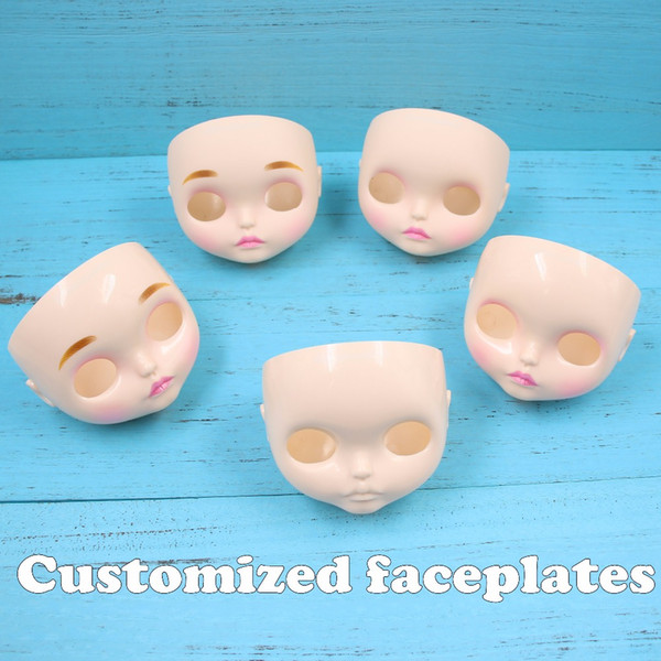 Fortune Days Blyth doll New Face plate including the back plate and screws many kinds of style,matte face,lips carve, eyebrow