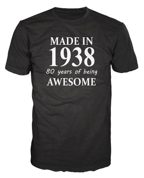 Made In 1938 80th Birthday Anniversary Party Funny T-shirt