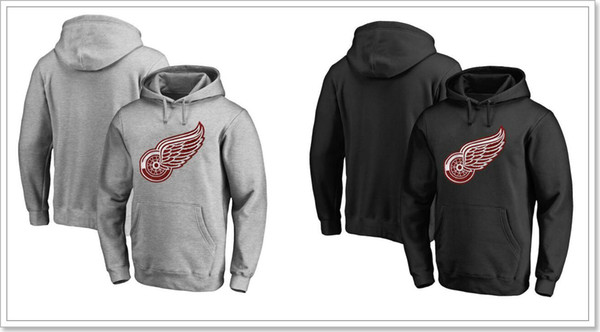 New Mens Vintage Detroit Red Wings Team Ice Hockey Shirts Uniforms Sweaters Hoodies Blank Stitched Embroidery Sports Jerseys Sz S-XXXL