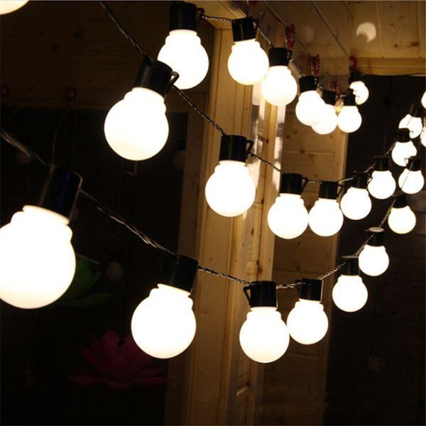 Açık 20 led düğün dize peri işık noel LED Küre Festoon Topu led peri dize işık parti düğün bahçe çelenk