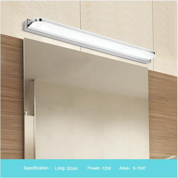 Neue LED Spiegelleuchte 42-52cm 9W / 12W AC110-240V wasserdichte moderne kosmetische Acrylwandlampe für Badezimmerlicht