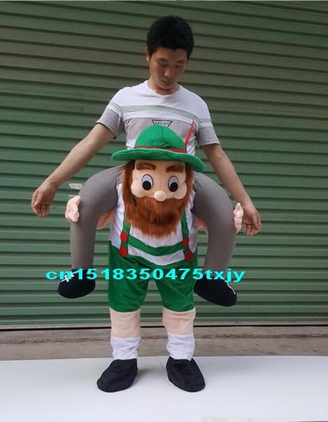 Funny Carry Me Fancy Dress Up Ride On Oktoberfest Mascot Party Mascot Halloween Costume Fits Most Fancy Pants size S.M.L,XL,XXL