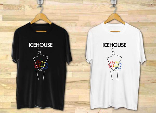 Icehouse Man of Colors Rock Band мужская Черно-Белая Футболка XS до 3XL Смешная бесплатная доставка Унисекс Повседневная