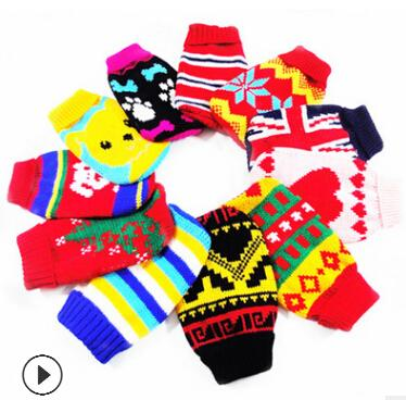Pet Dog Knitting Sweater Cat Knitted Costumes Winter Warm Puppy Kitten Woolen Clothing Dog Teddy Apparel