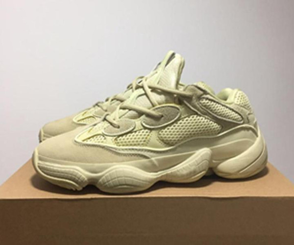 92393806 New Wave 500 Blush Desert Rat 500 Super Moon Yellow Casual Shoes Kanye West  Mens Women