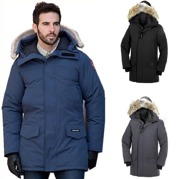 Outdoor Warm Thick Cold Resistant -40 ° C Canadian Coat Coat Ski Goose Down Men And Women High Quality Six Colors HFBYYRF005