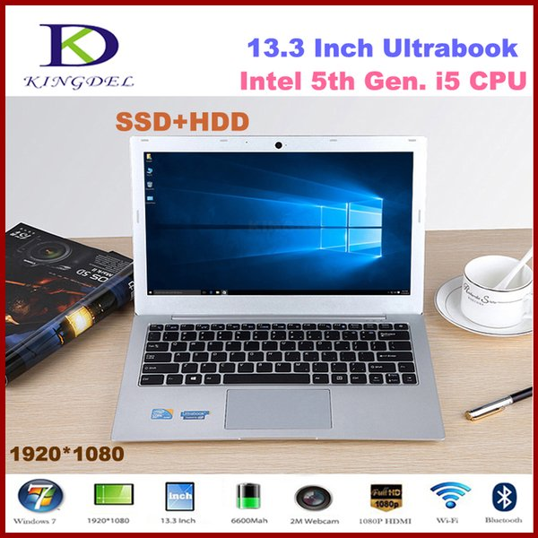 """NEWEST Brand 13.3"""" powerful 5th generation i5 Laptop computer with 4GB RAM 500GB HDD 1920*1080,Metal case, Windows 10"""