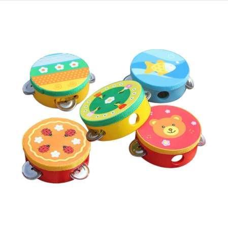 Cute Baby Kids Musical Tambourine Beat Instrument Educational Handbell Clap Drum Toys Baby Gift