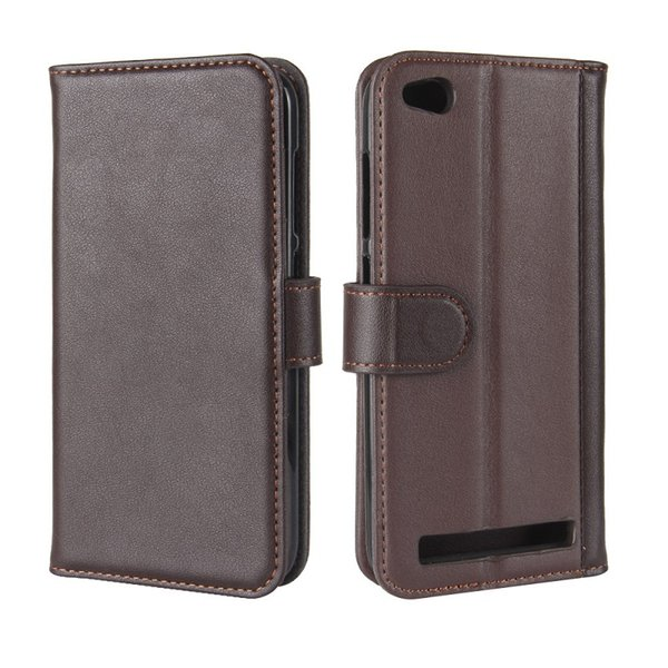 Genuine Leather Cases For Xiaomi Redmi5A Genius Leather Bookcover for Redmi5A case with cardslot heavy duty cover DHL Free shipping