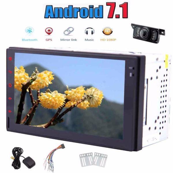 Einar 2din Android 7.1 Nougat Auto Stereo Touchscreen Stereo Radio Empfänger GPS Bluetooth 1080 P Video Rückfahrkamera für Parkplatz