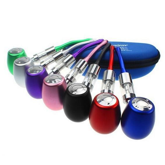 K1000 E Pipe Mechanical Mod Kit K1000 Pipe Electronic Cigarette E Cigarette 18350 900mAh Battery in Zipper Case All Colors Instock DHL free