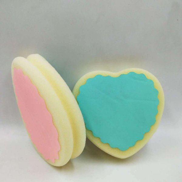 Hot sell Women fashion magic painless hair removal depilation sponge pad love heart round remove hair remover