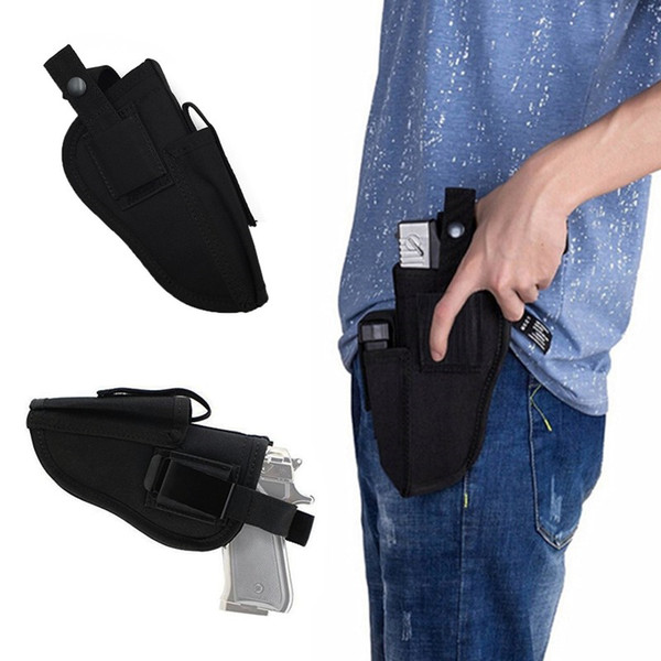 top popular FIRECLUB Tactical Hand Gun Pistol Holster Left Right Hand Shooting Airsoft Hunting Gun Pouch With Mag Slot Holder Holster 2021