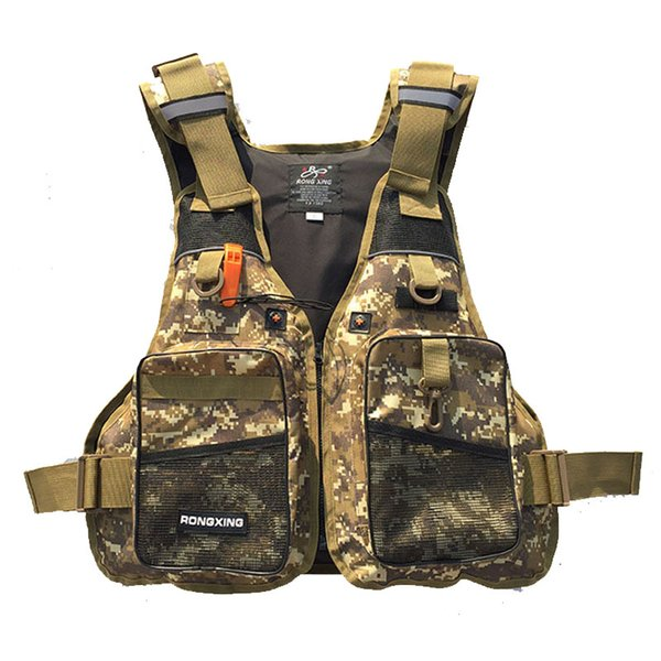 Men's Fishing Vest Adult Water Sport Safety Life Vest Hunting jackets Swimming Life Jackets Buoyancy Women Surfing