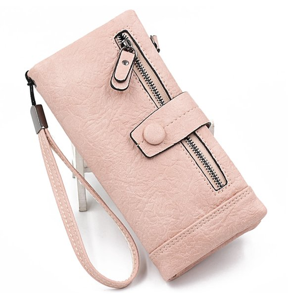 Women Wallet Female Purse Leather Long Wristlet Zipper Women Clutch Bag Phone Bag Female Large Capacity Card Holder Coins Purse