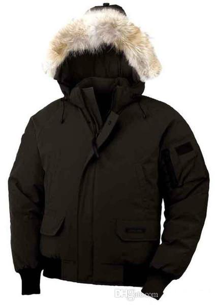 Fashion Winter Down Bomber con cappuccio Parka Giacche Green Zippers Jacket Uomo Cappotto caldo Canada Cappotti per esterni Vendita a buon mercato